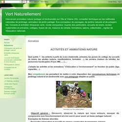 Vert Naturellement: Animations