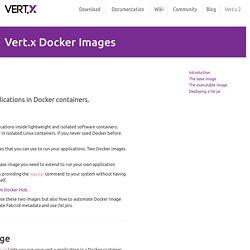 Vert.x Docker Images - Vert.x