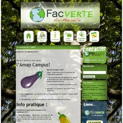 Fac Verte Aix-Marseille » AMAP Campus