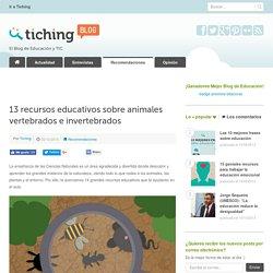 13 recursos educativos sobre animales vertebrados e invertebrados