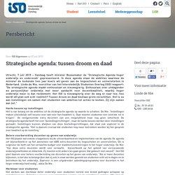 Strategische agenda: tussen droom en daad