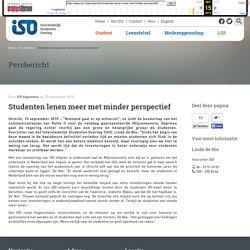 Studenten lenen meer met minder perspectief - Interstedelijk Studenten Overleg - Vertegenwoordigt studerend Nederland