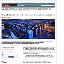 Google verteidigt Kopieren von W-Lan-Daten