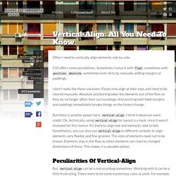 Vertical-Align: All You Need To Know - Christopher Aue