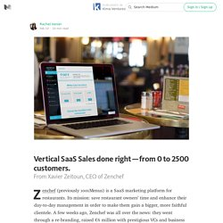 Vertical SaaS Sales done right — from 0 to 2500 customers. — Kima Ventures