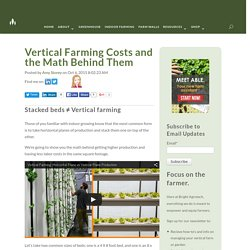 Vertical Farming Costs and the Math Behind Them