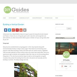 How To Build A Vertical Garden & DIY Guides