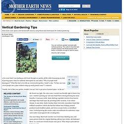 Vertical Gardening Tips - Organic Gardening