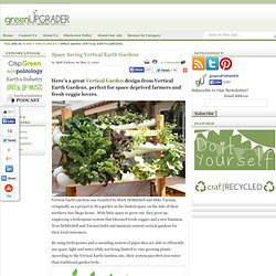 Space Saving Vertical Earth Gardens