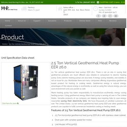 2.5 Ton Vertical Geothermal Heat Pumps EER 26.0