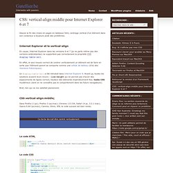 CSS: vertical-align:middle pour Internet Explorer 6 et 7 – Gatellier.be