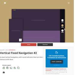 Vertical Fixed Navigation 2 in CSS and jQuery