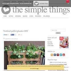 Vertical pallet planter DIY
