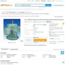 1kw - 5600kw Vertical Axis Permanent Magnet Wind Turbine Generator - Buy Wind Turbine,Wind Generator,Wind Generator Product on Alibaba
