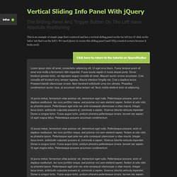 Vertical Sliding Info Panel With jQuery