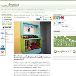 Vertical Storage From Old Dresser Drawers