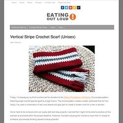 Vertical Stripe Crochet Scarf (Unisex)