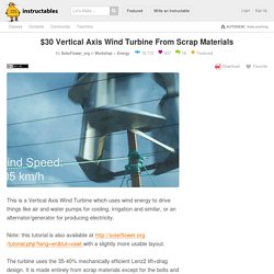 $30 Vertical Axis Wind Turbine From Scrap Materials: 3 Steps