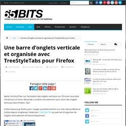 Une barre d'onglets verticale et organisée avec TreeStyleTabs pour Firefox