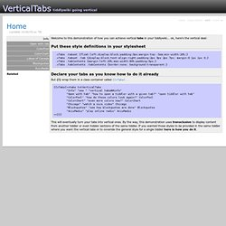 VerticalTabs - tiddlywiki going vertical