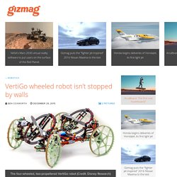 VertiGo wheeled robot isn't stopped by walls