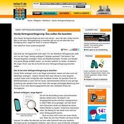 Handy-Vertragsverlängerung: Das sollten Sie beachten - teltarif.de Ratgeber
