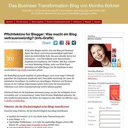 Pflichtlektüre für Blogger: Was macht ein Blog vertrauenswürdig? (Info-Grafik)