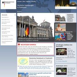 Deutsche Vertretungen in Frankreich - Startseite