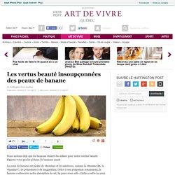 Les vertus beauté insoupçonnées des peaux de banane