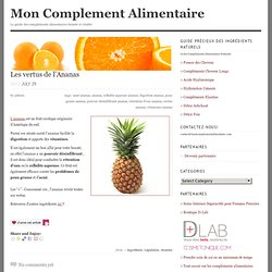 Mon Complement Alimentaire