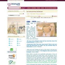 Les vertus de leau de Zamzam - Islam web - Français