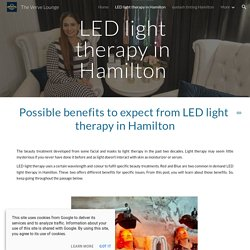 The Verve Lounge - LED light therapy in Hamilton