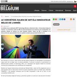 Le verviétois Julien de Wit élu innovateur belge de l'année