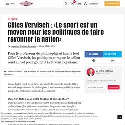 « Le sport est un moyen pour les politiques defaire rayonner lanation »