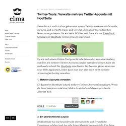 Twitter-Tools: Verwalte mehrere Twitter-Acounts mit HootSuite