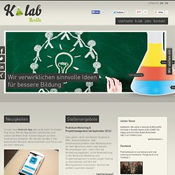 K.lab Berlin - Wir verwirklichen sinnvolle Ideen für bessere Bildung