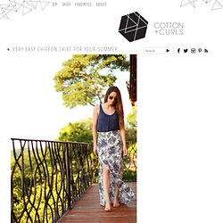 Very easy chiffon skirt for your Summer