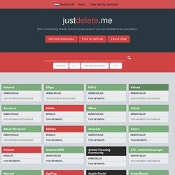 Een verzameling directe links om jouw gebruikersgegevens bij een webdienst te verwijderen.
