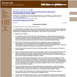 § 6 LMKV Verzeichnis der Zutaten Lebensmittel-Kennzeichnungsverordnung