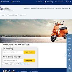 Vespa Insurance: Buy/Renew Two Wheeler Insurance for Vespa Bikes