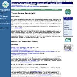 EPA Vessel General Permit