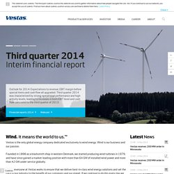 Vestas | Wind. It means the world to us. | Frontpage