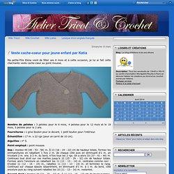 Veste cache-coeur pour jeune enfant par Katia