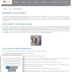 Vestiaires, casiers : Normes et réglementations - EVP
