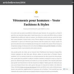 Vêtements pour hommes – Veste Fashions & Styles – articledirectory2016