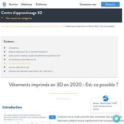Vêtements imprimés en 3D en 2020 : Est-ce possible ?