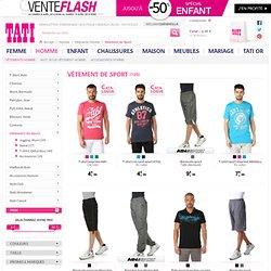 Vêtements de Sport homme pas cher, jogging, short, t-shirt sport