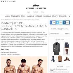 10 marques de sous-vêtements masculins a connaître