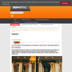 """Les vêtements d'occasion, le nouveau """"must have"""" des magasins et des marques"""
