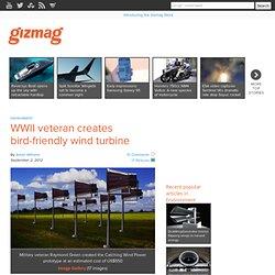 WWII veteran creates bird-friendly wind turbine